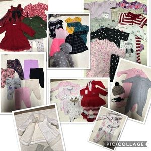 Bundle baby girl clothes 0-3 months!!! 47 items!!